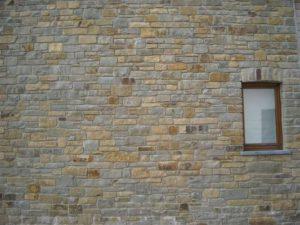 Mur en vieilles briques à Spa